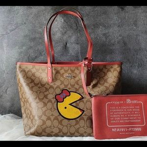 NEW Coach x PAC Man Reversible Tote!